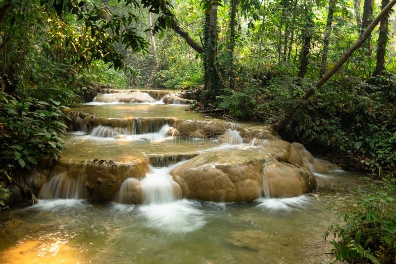 Sri Sang Wan Waterfall, Pha Dang National Park, Chiangmai Thailand arkivbilder
