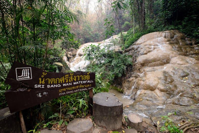2019-04-03 Sri Sang Wan Waterfall, Pha Dang National Park, Chiangmai Thailand royaltyfria foton