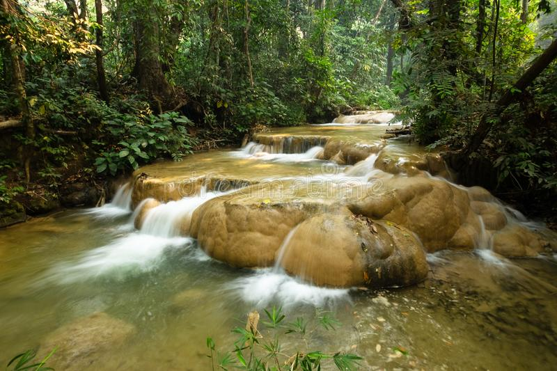 Sri Sang Wan Waterfall, Pha Dang National Park, Chiangmai Thailand royaltyfri bild