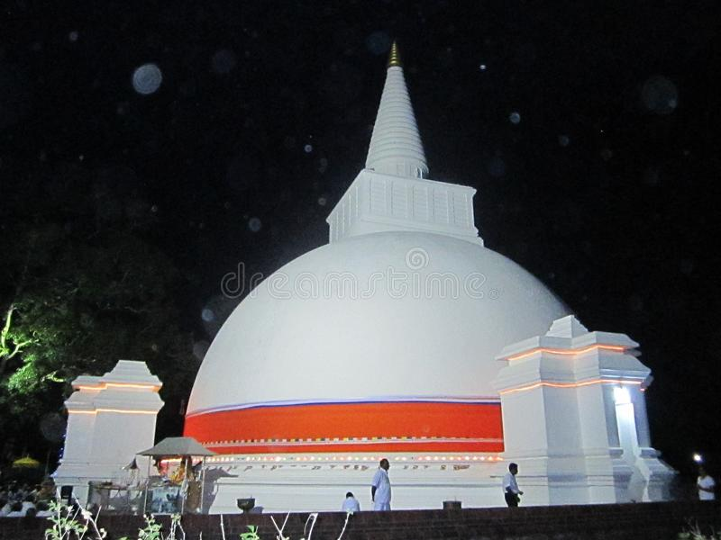 Sri Somawathi Maha Seya van Ceylon stock afbeeldingen
