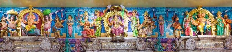 Sri Veeramakaliamman Temple. SINGAPORE, DECEMBER 10: Detail of Sri Veeramakaliamman Temple 10 DECEMBER 2014 in Singapore. One of the oldest temples in Singapore stock photos