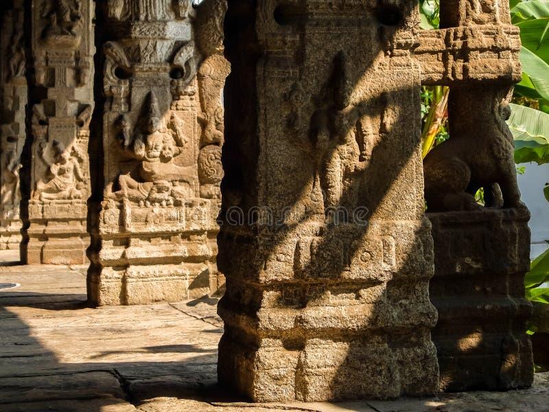 Sri Venkateswara museum av tempelkonst i Tirupati, Indien arkivfoto
