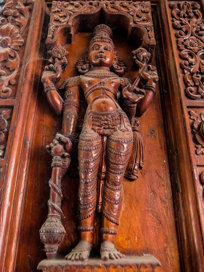 Sri Venkateswara Museum Of Temple Art in Tirupati, India. Tirupati, India - Circa January, 2018. Sri Venkateswara Museum Of Temple Art in Tirupati, India royalty free stock image