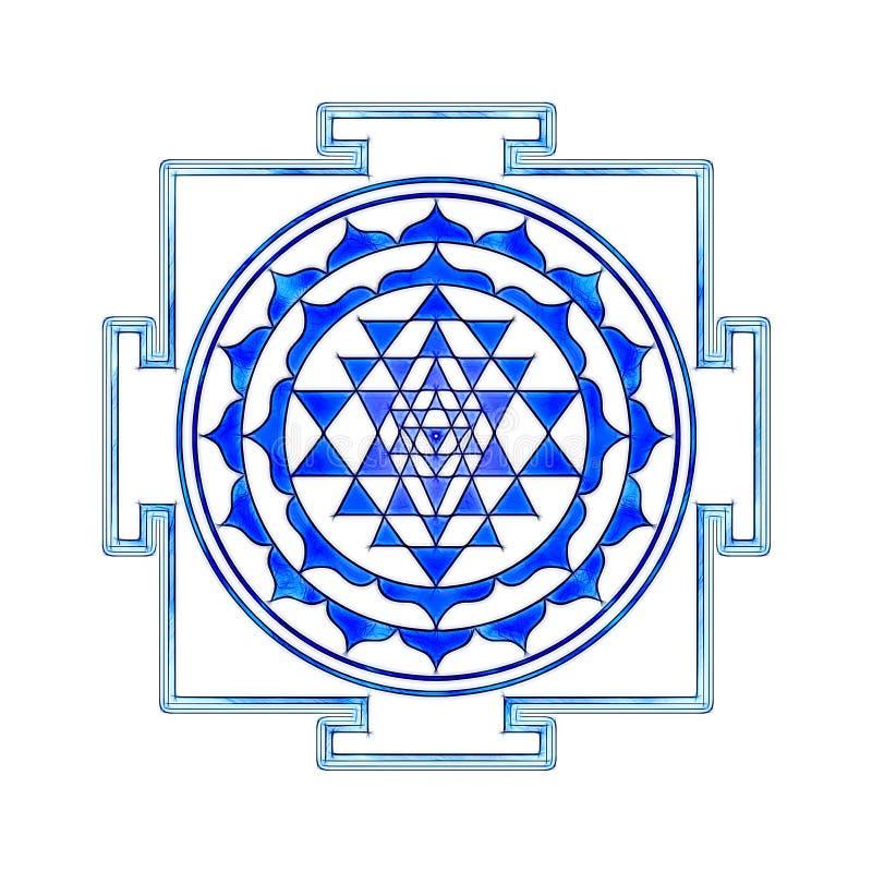 Sri Yantra ilustração royalty free