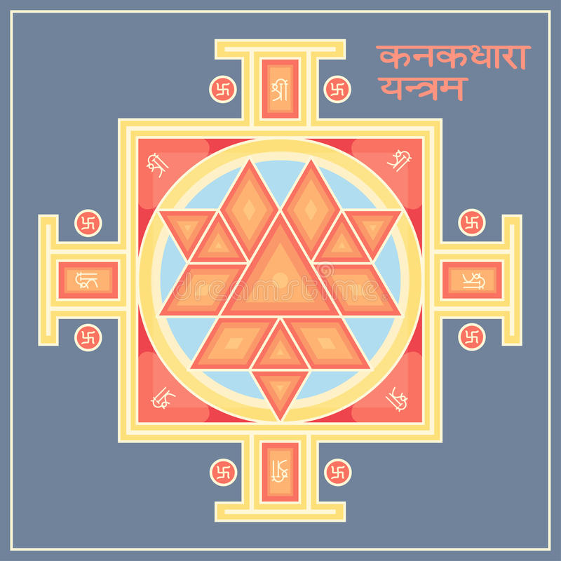 Symbol Sri Yantra Stock Illustration  Illustration Of Holy
