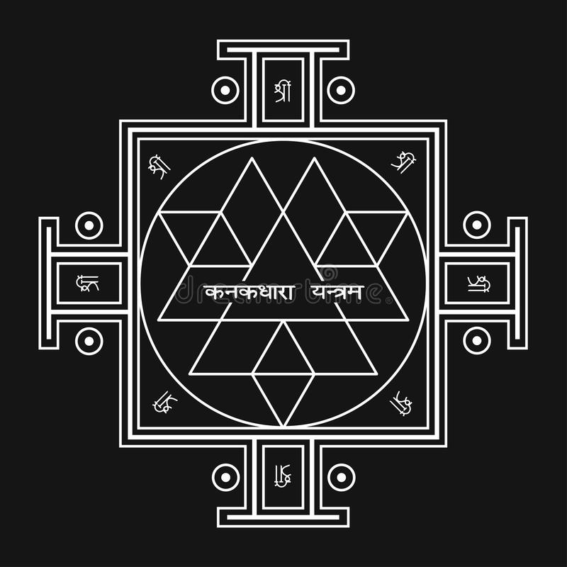 Sri Yantra Symbol Of Hindu Tantra Formed By Interlocking Triangles