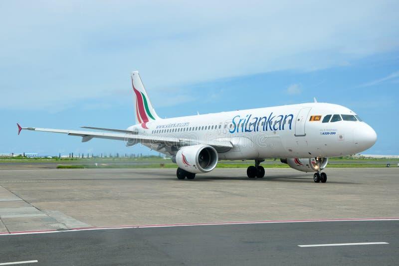 SriLankan Airlines Airbus A320 imagenes de archivo