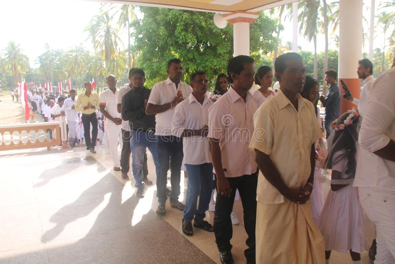 Srilankan bautism charch βλαστών Fre στοκ φωτογραφία