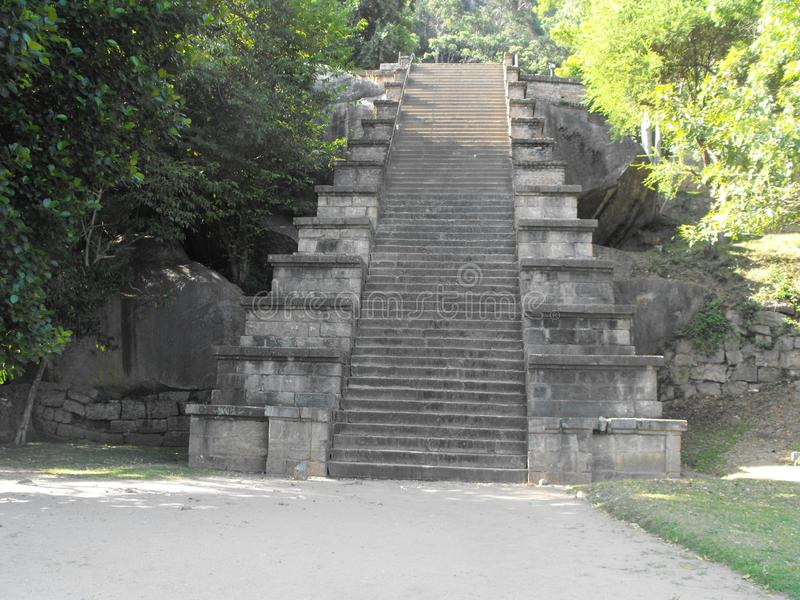 THIS IS IMAGE BEAUTIFUL YAPAHUWA ROCK FORTRESS OF SRI LANKA. SRILANKAN BEAUTIFUL YAPAHUWA ROCK FORTRESS OF KURUNEGALA stock image