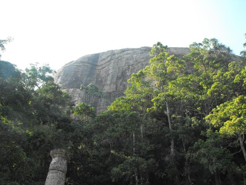 THIS IS IMAGE BEAUTIFUL YAPAHUWA ROCK FORTRESS OF SRI LANKA. SRILANKAN BEAUTIFUL YAPAHUWA ROCK FORTRESS OF KURUNEGALA stock images