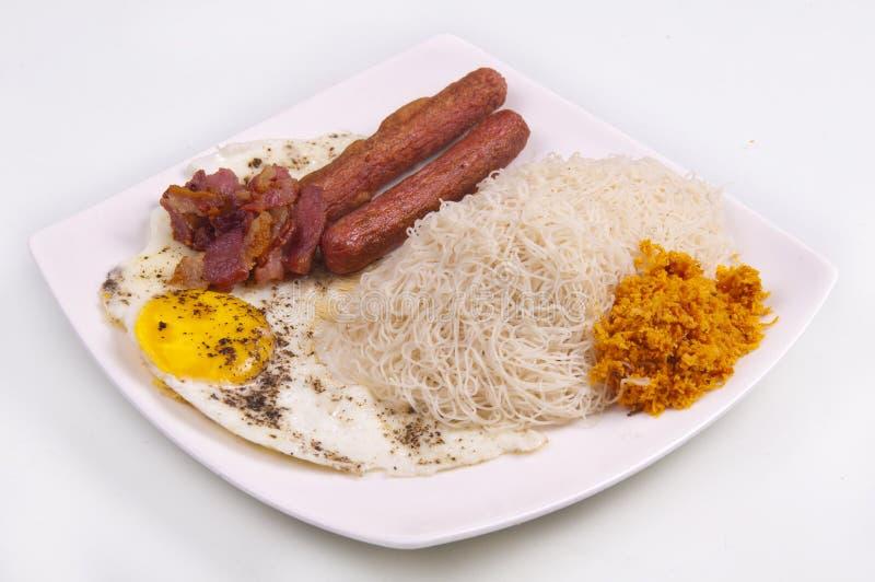 Srilankan Food plate royalty free stock photo