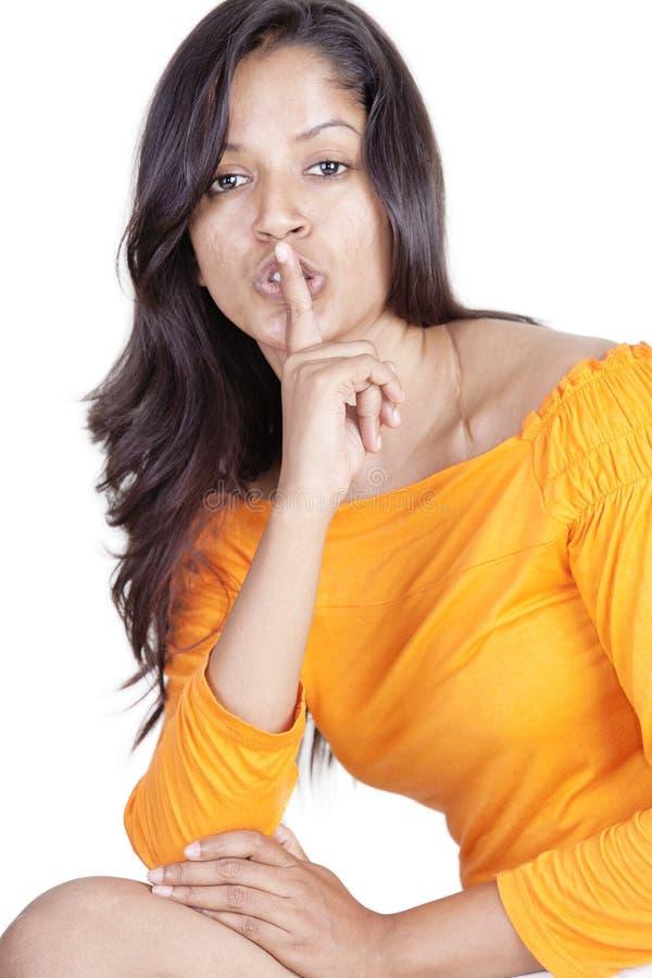 Srilankan girl on white background