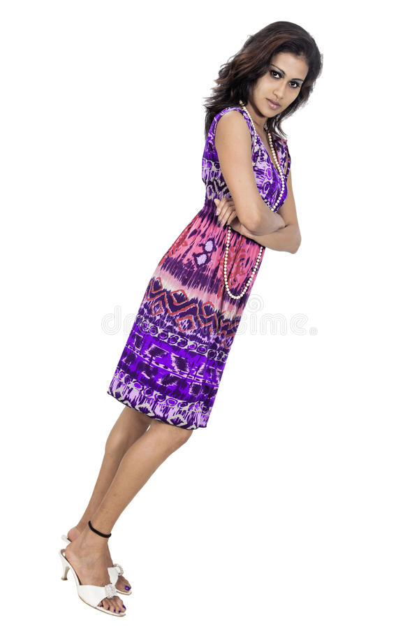 Srilankan Model Posse On Studio White Background Free To Use In Any Commercial Stock Images