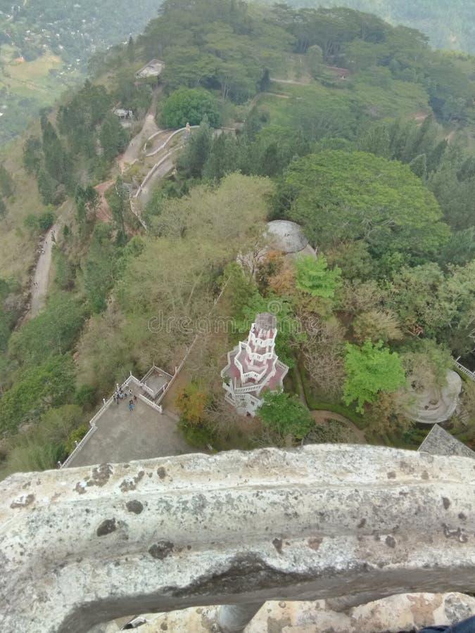 Srilankan most interesting place. Ambuluwawa very nice place stock image