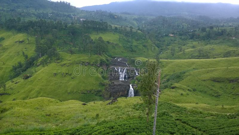 A Srilankan waterfall royalty free stock image