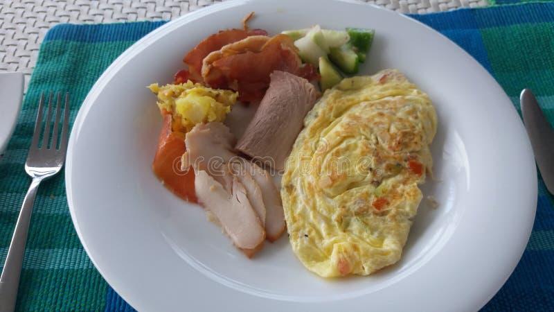 Srilankesisk omelett royaltyfri fotografi