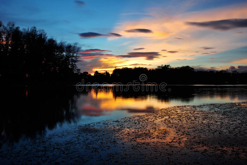 Srimuang Park in yala, thailand. At evening time twilight royalty free stock photos