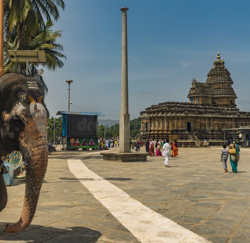 Sringeri świątyni słoń zdjęcie royalty free