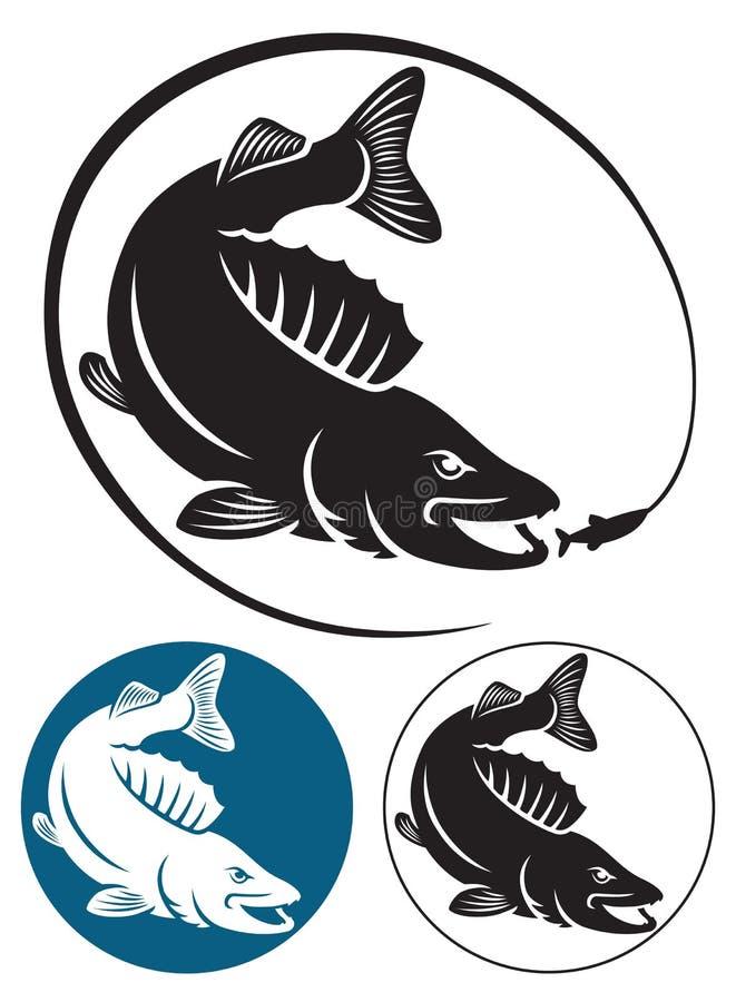 Sriped低音鱼 向量例证