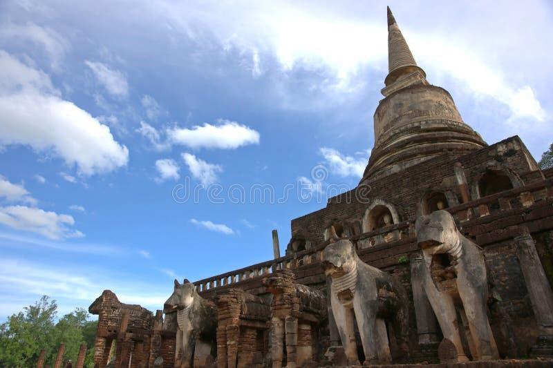 SriSatchanalai Historical Park. History Temple in Sukhothai, Thailand royalty free stock image