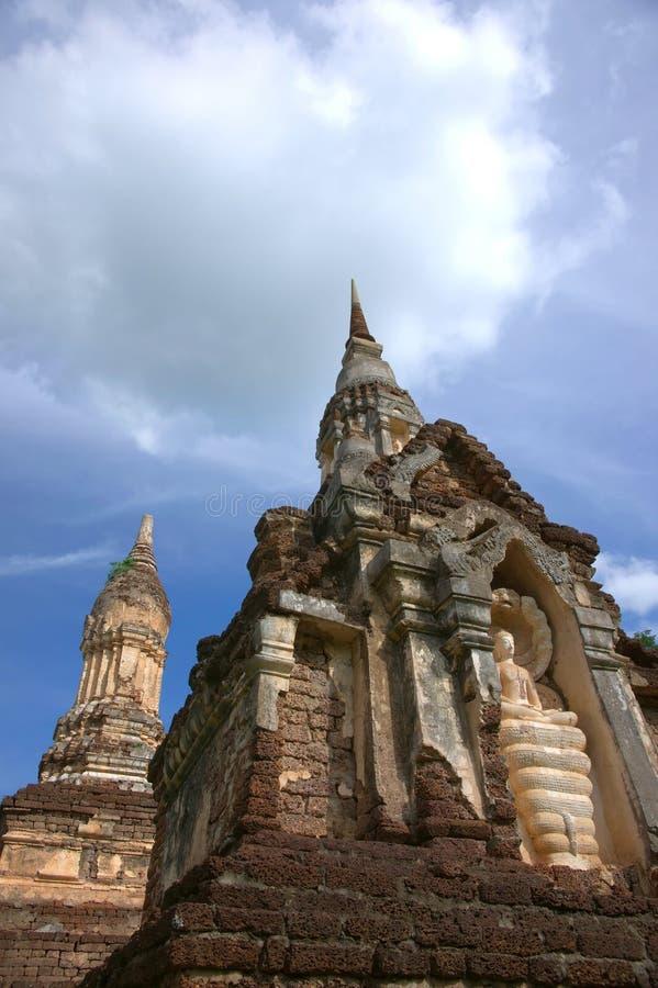 SriSatchanalai Historical Park. History Temple in Sukhothai, Thailand stock photo