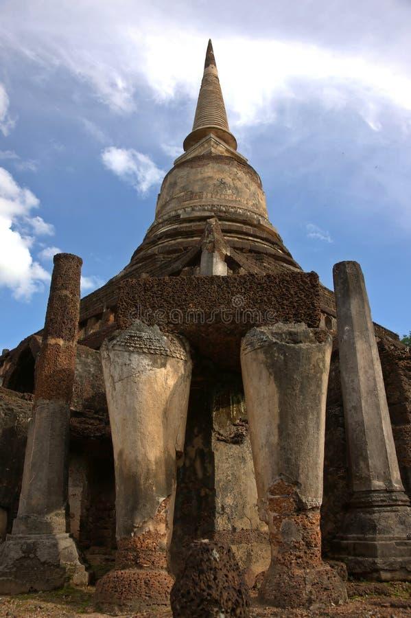 SriSatchanalai Historical Park. Temple in Sukhothai, Thailand stock images