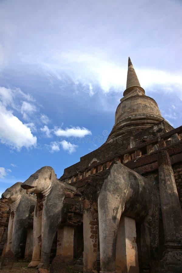 SriSatchanalai Historical Park. Temple in Sukhothai, Thailand stock photos