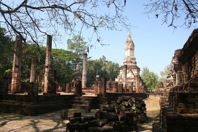 Srisatchanalai historical park, Thailand royalty free stock photo
