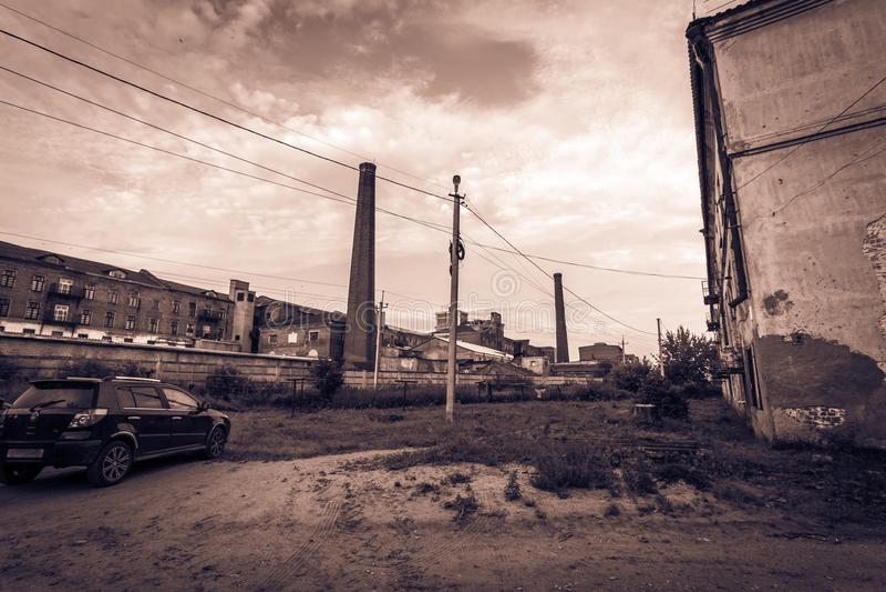 Srogi fabryczny życie fotografia stock