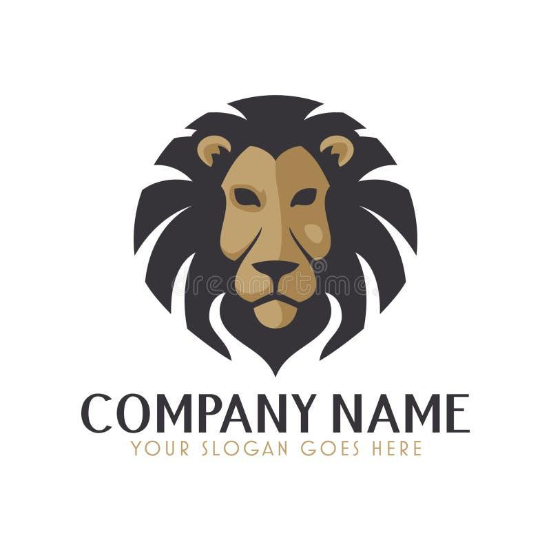 Srogi lwa logo ilustracja wektor