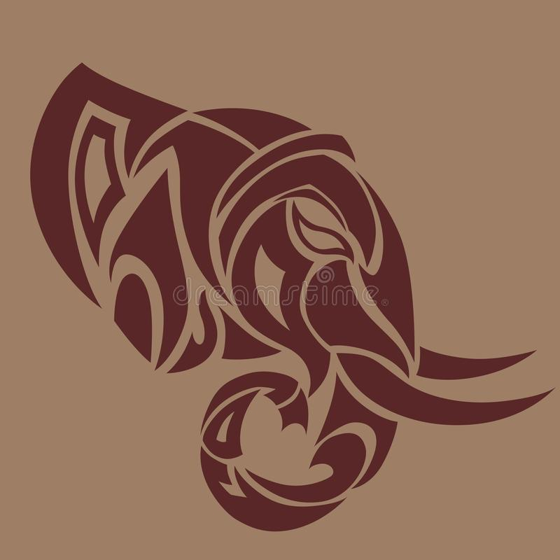 Srt восковки слона иллюстрация штока