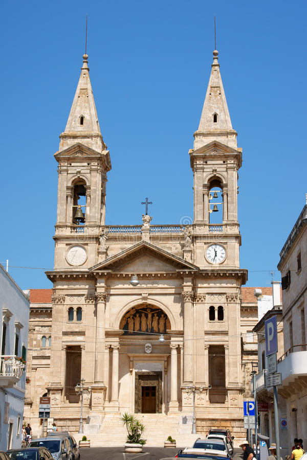 SS教会。Medici Cosma和达米亚诺在Alberobello,意大利 免版税图库摄影