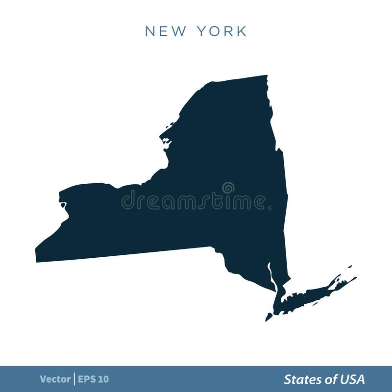 Modern Map - New York USA Illustration Stock Illustration ...