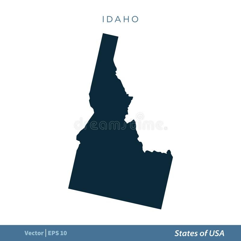 Idaho - States of US Map Icon Vector Template Illustration Design. Vector EPS 10. Idaho - States of US Map Icon Vector Template Illustration Design. Editable stock illustration