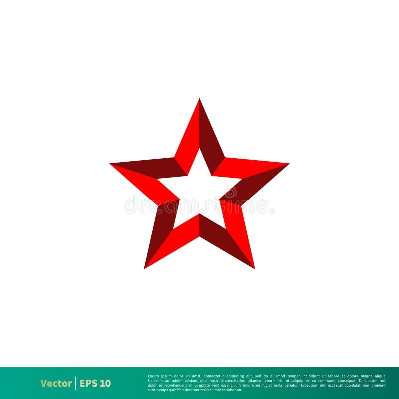Red Star Icon Vector Logo Template Illustration Design. Vector EPS 10. royalty free illustration
