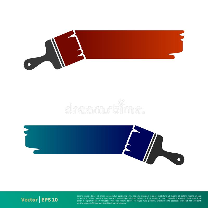 Painting Icon Vector Logo Template Illustration Design. Vector EPS 10. vector illustration