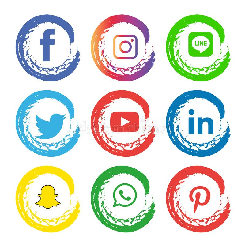 Social media icons set Logo Vector Illustrator Background. With all the new tools and platforms constantly emerging, it's very easy to fall into the trap stock illustration
