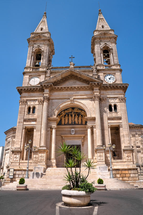 SS. Cosma e Damiano Basilica. Alberobello. Apulia. stock photos