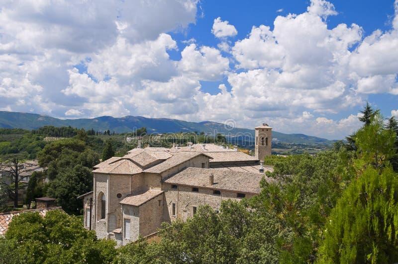 SS. De Kerk van Simone e Giuda. Spoleto. Umbrië. royalty-vrije stock foto's