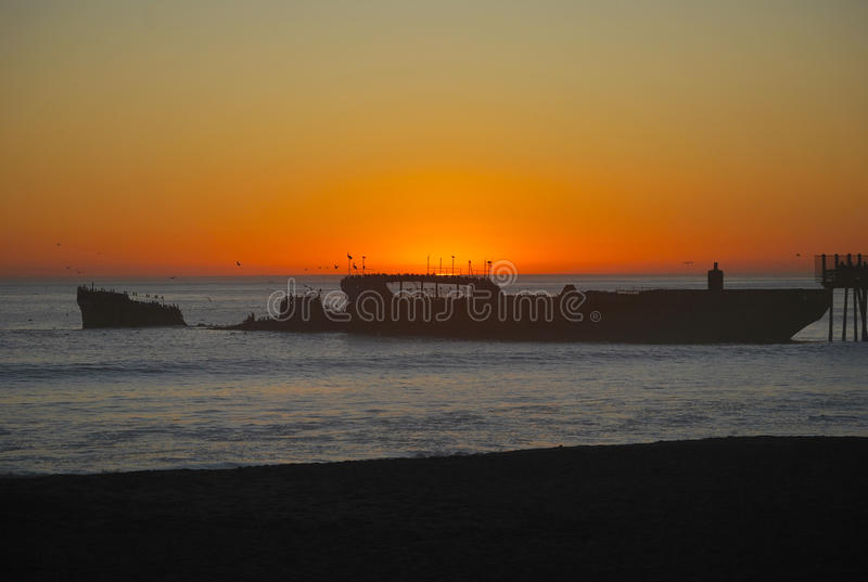 SS Palo Alto Starboard sunset stock photography