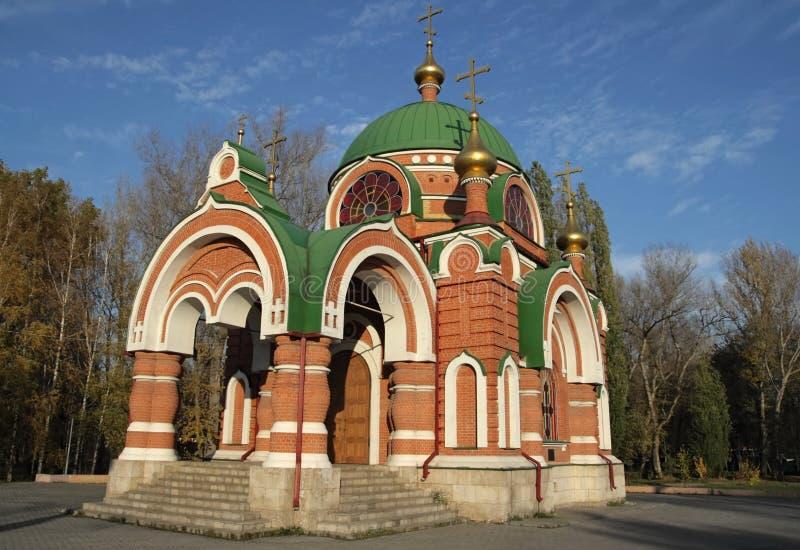 SS. Peter-und Paul-Tempel. Lipetsk. Russland. lizenzfreies stockbild