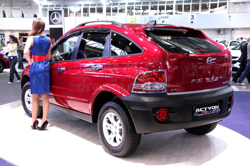 Ssang Yong Actyon stock photography
