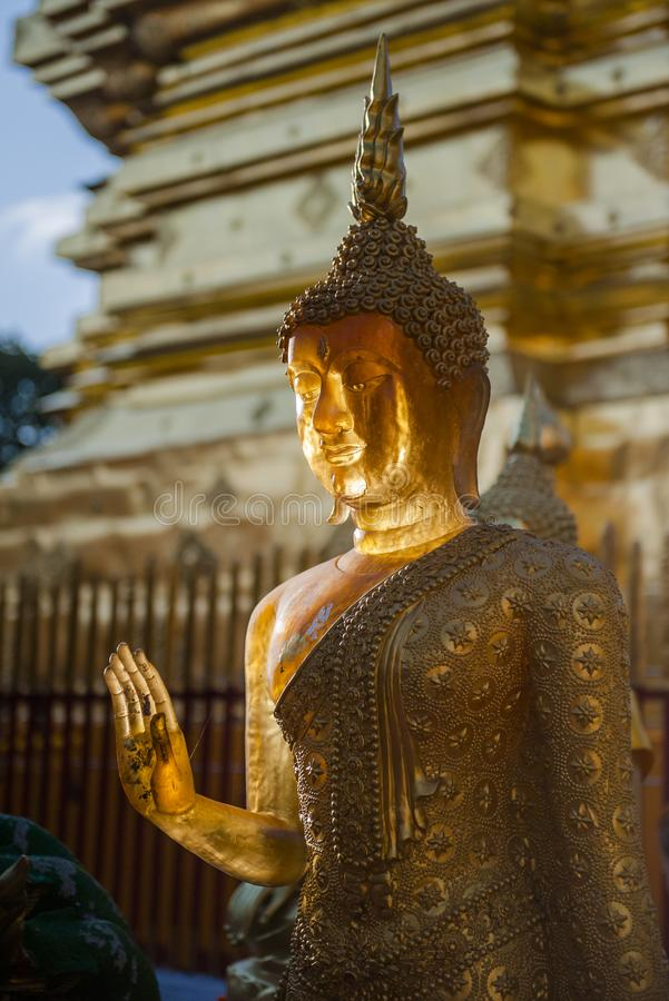 Ssangyong寺庙,清迈,泰国 免版税库存图片