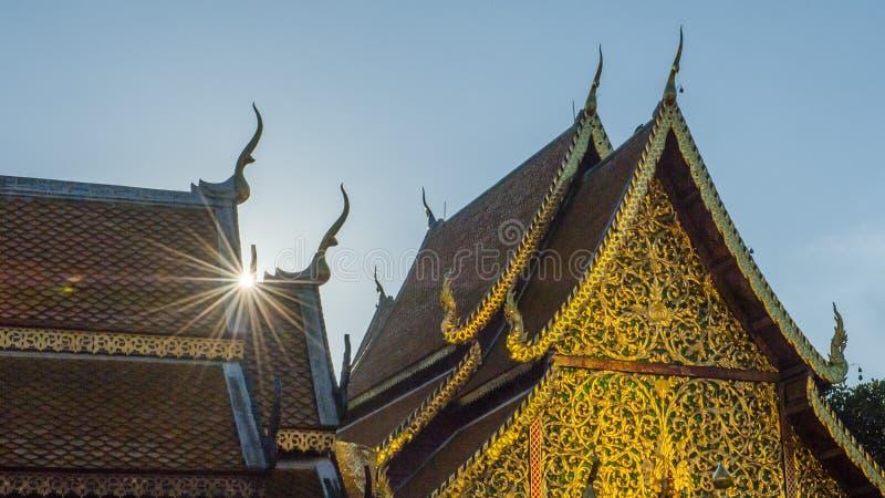 Ssangyong寺庙,清迈,泰国 库存图片
