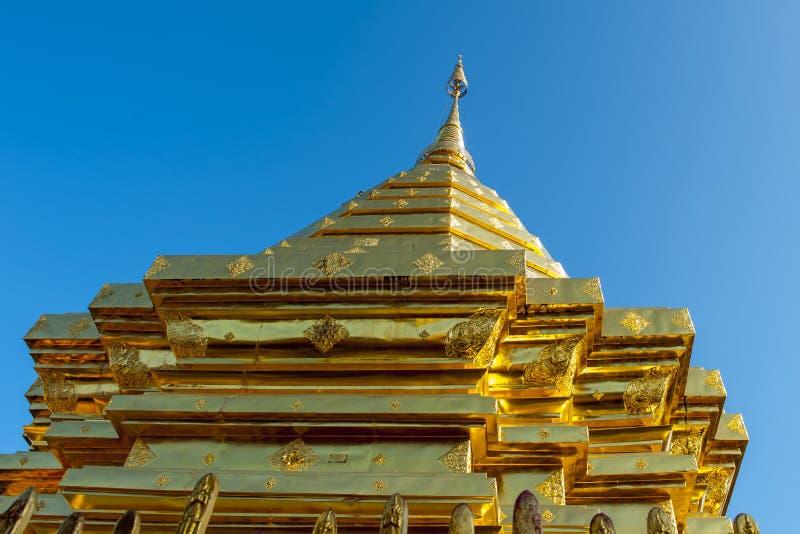 Ssangyong寺庙,清迈,泰国 免版税库存照片