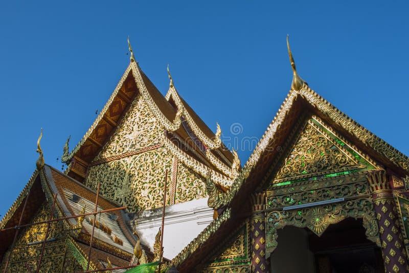 Ssangyong寺庙,清迈,泰国 图库摄影