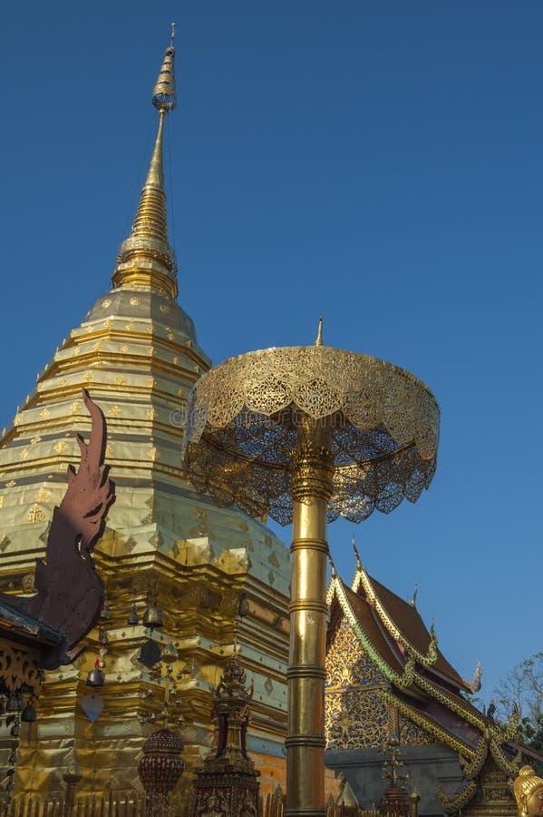 Ssangyong寺庙,清迈,泰国 免版税图库摄影