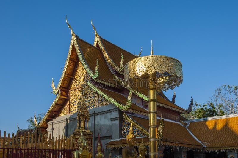 Ssangyong寺庙,清迈,泰国 库存照片