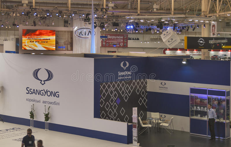 Exhibition Booth Price Sia : Ssangyong booth at international motor show editorial