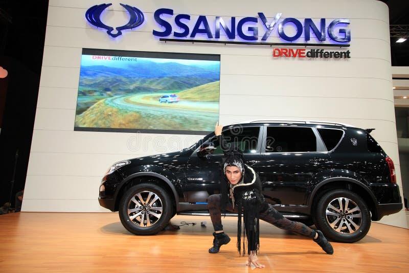 Ssangyong Rexton mit nicht identifiziertem Baumuster stockbild